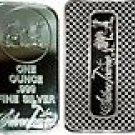 1 Troy oz, ounce Silvertowne .999 Pure Solid Silver bar