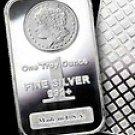 1 Troy Oz Silver Bar .999 Fine Silver Bar Morgan Design New Sealed