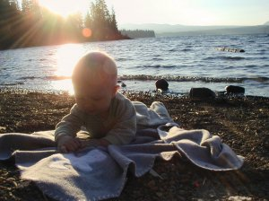 Baby on the Shore