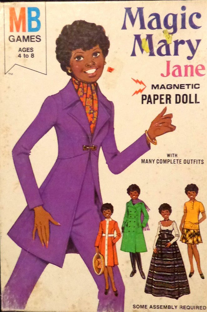 Vintage Magic Mary Jane Magnetic Paper Doll  w/ Box Uncut #4010-3  1975