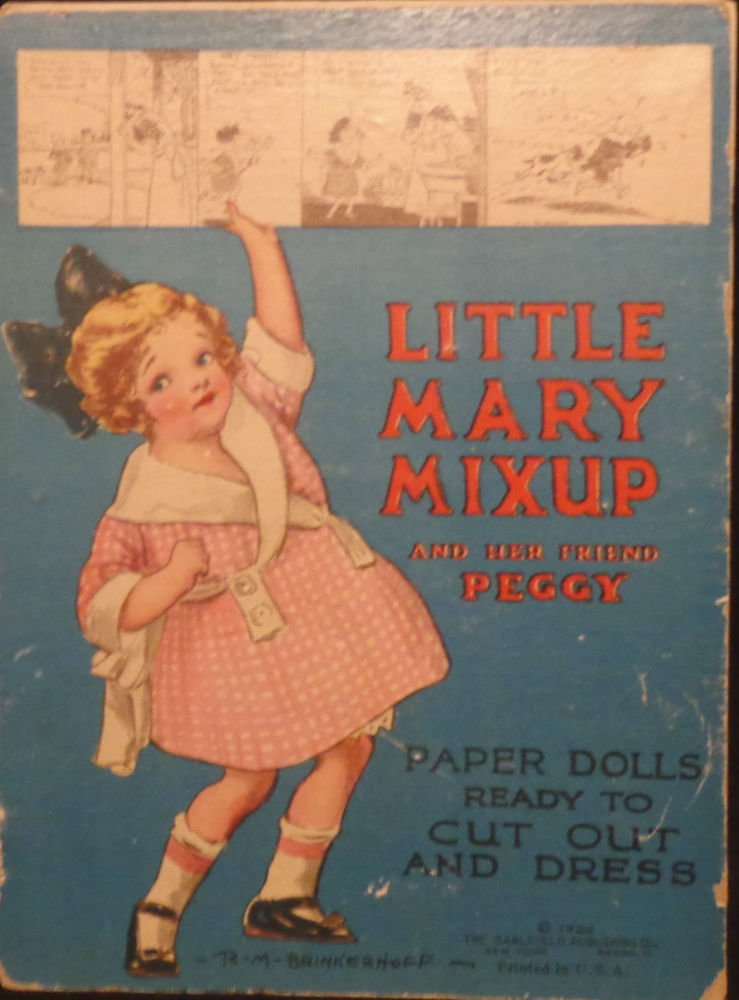 Little Mary Mixup and Her Friend PeggyPaper Dolls  Saalfield 1922 RARE SET