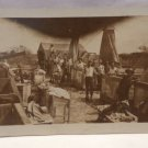 Vintage Real Photo Postcard OF Soldiers  and Life in Army Camp  Possibly WWI