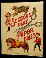 Vintage Uncut Scissors Play Paper Dolls Graham & Matlack New York #0242 No Date