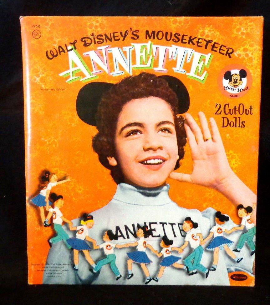 Disney's Mouseketeer Annette Cut-Out Paper Dolls Whitman 1956  2 Dolls