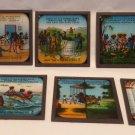 Vintage Ten Little Black Boys Set of 8 Black Americana Magic Lantern Slides RARE