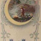 Vintage Happy New Year Monotint Series 462 Embossed   Split Design