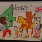 Vintage Mia Birthday Card for 4 Year Olds Has Pictures of Toys & Golliwog