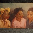 "Vintage Black Americana Postcard ""A Rose Between Two Thorns"" Lithograph US 1901"