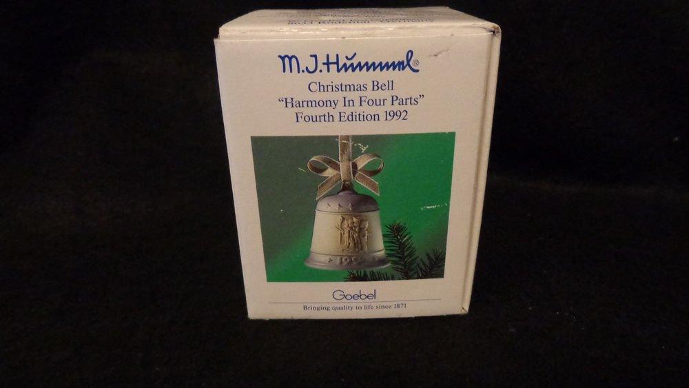 M.J.Hummel Christmas Bell Harmony in 4 Parts 4th Edition 1992 Goebel  W/ Box