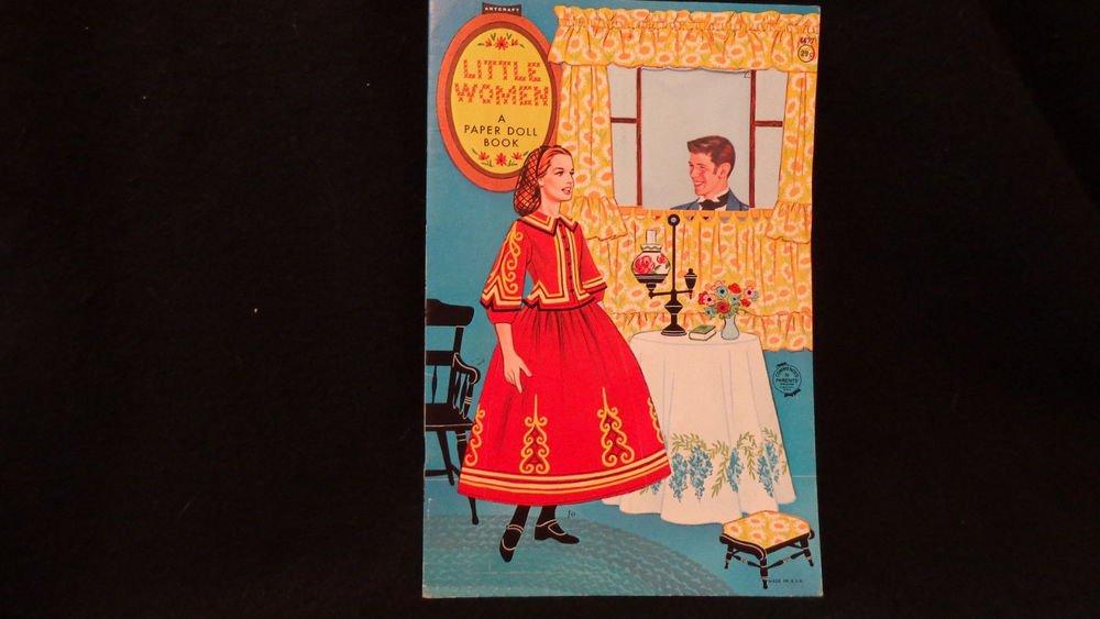"""Vintage Uncut Paper Dolls  """"Little Women""""  Published by Artcraft Five Dolls"""