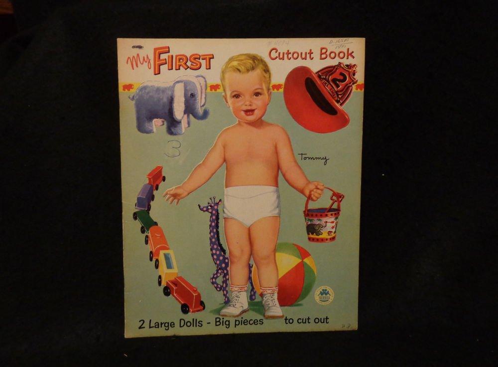 Vintage My First Cutout Book  Merrill Pub/ Co. 1952  UNCUT 2 Dolls