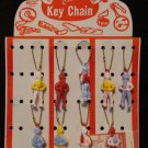 Vintage Howdy Doody Puzzle Key Chains on Display Card  9 in Lot Has Directions