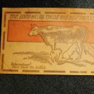 "Vintage Leather Postcard ""The Lord Helps Those Who Help Themselves"" Unused"