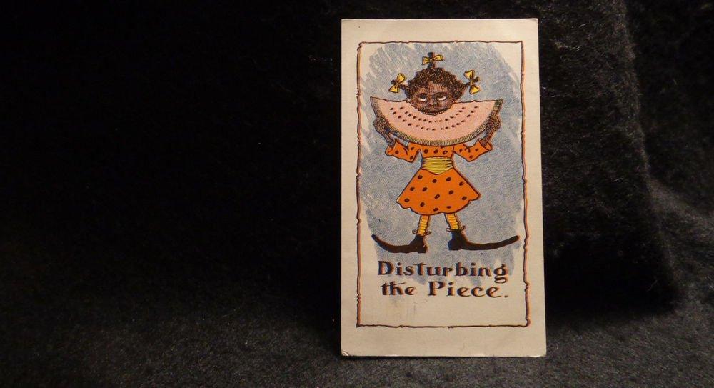 "Vintage Black Americana Postcard ""Disturbing the Piece""  Lithograph US 1901-1907"