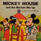 Vintage Mickey Mouse & the Martian Mix Up  Mini Pop-Up Book 1978  Pop-ups work