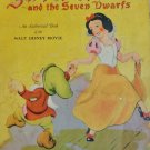 Snow White & the 7 Dwarfs Vintage Walt Disney Book Published in 1938