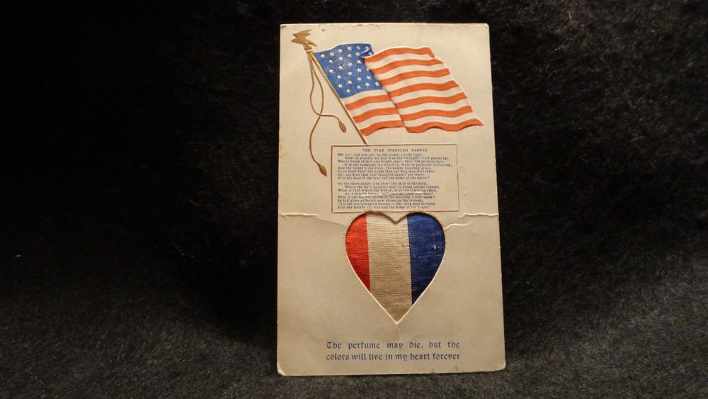 """Vintage Postcard """"The Star Spangled Banner"""" Used, Undivided, Has Flag and Heart"""