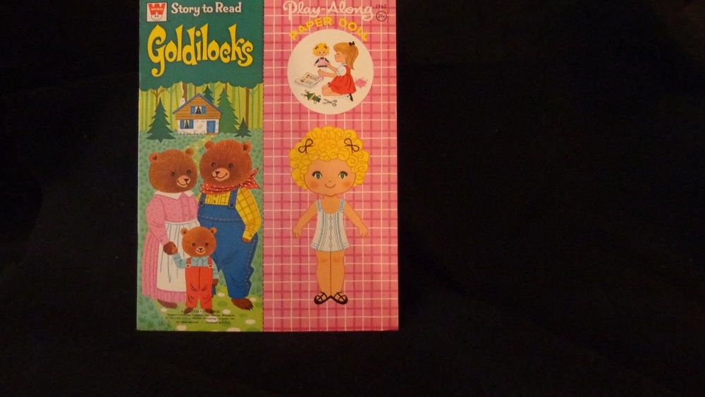 "Vintage Uncut Paper Dolls ""Story to Read Goldilocks"" Whitman 1972 Play-a-long"