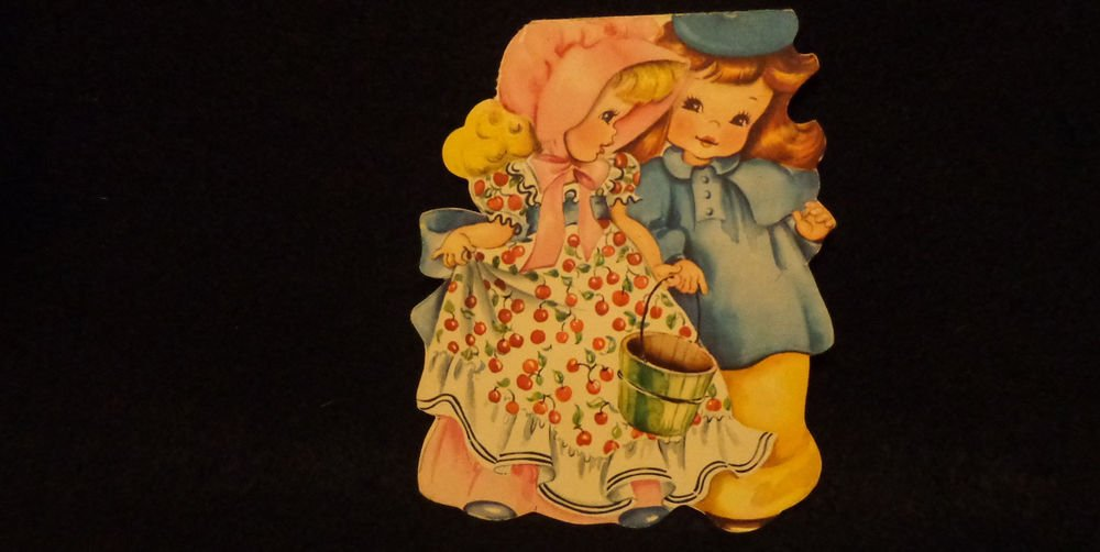 """Vintage American Greeting Card  """"Jack and Jill""""  1949  Has signature inside card"""