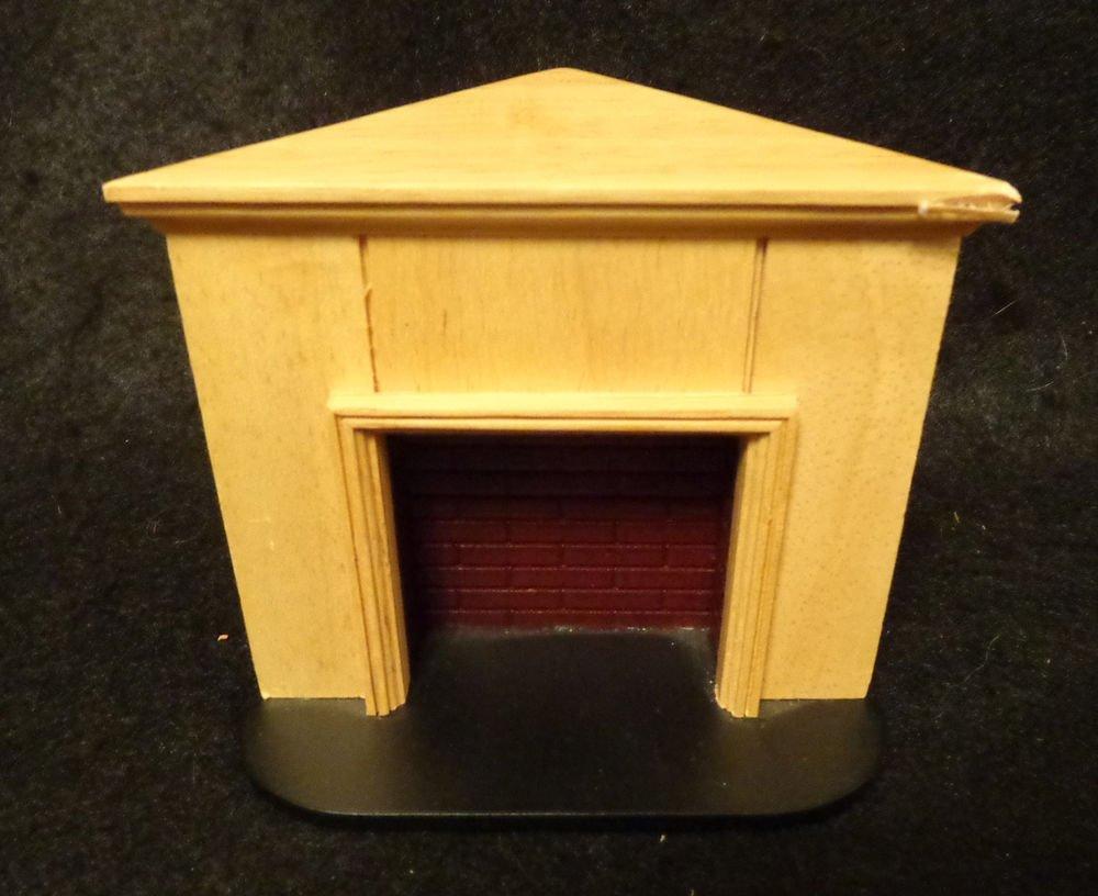 Dollhouse Miniature Furniture Corner Oak Fireplace Nice