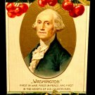 Vintage George Washington Birthday Postcard  Divided Back  Used Embossed