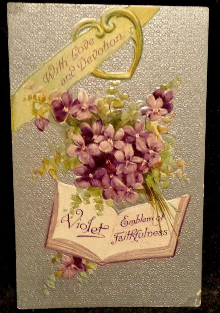 Vintage  Valentine Postcard   Divided Back   Used  Embossed  Beautiful 1910