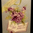 Vintage  Valentine Postcard   Divided Back   Used  Embossed  Beautiful 1910