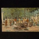 "Black Americana Postcard ""Wash Day on the Old Plantation"" Postmarked 1912"