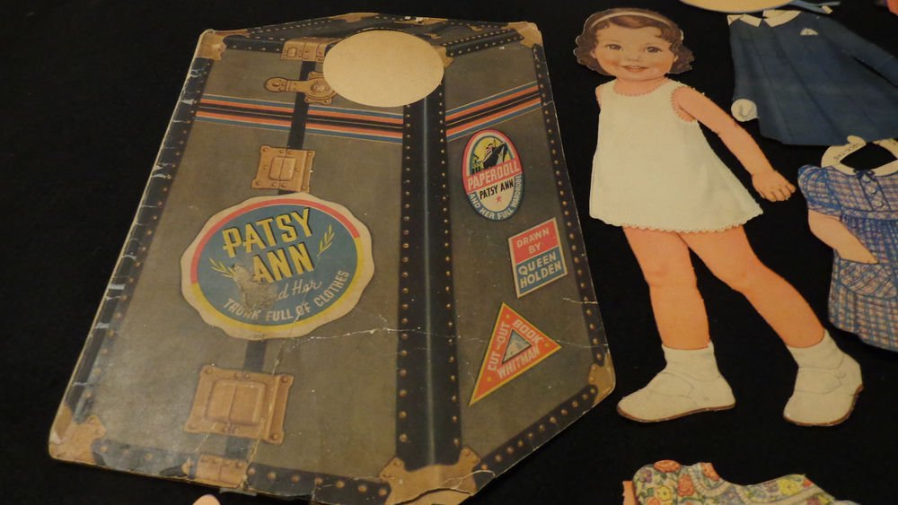 Vintage Patsy Ann and Her Trunk Full of Clothes Paper Dolls Cut  Whitman 1939
