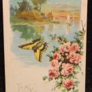 Vintage  Valentine Postcard  Embossed Divided Back  Postally Used
