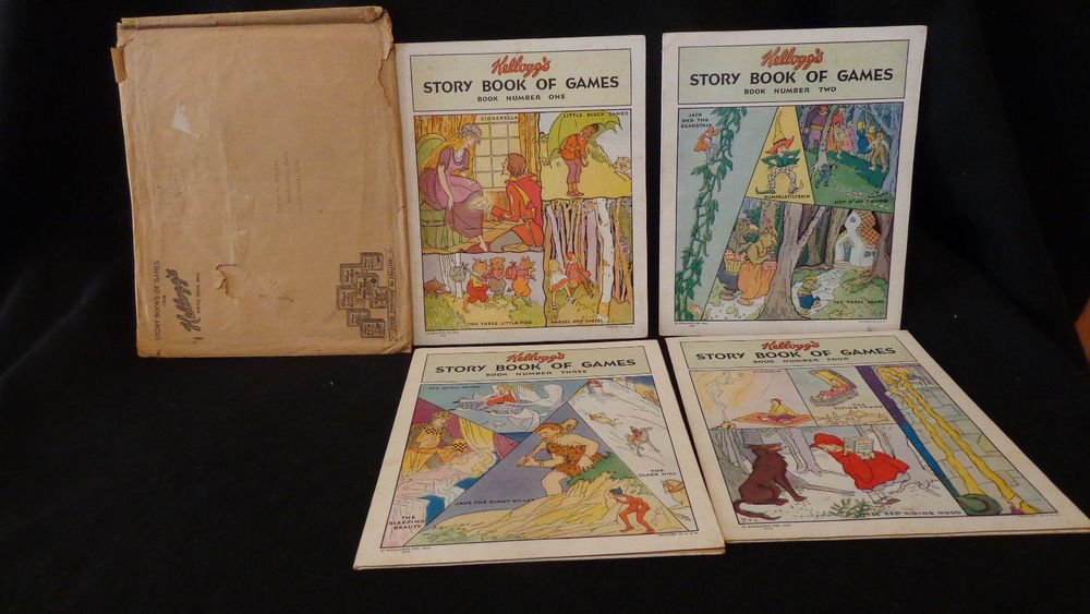 Vintage Kellogg Advertisement Game Booklets1931 Four Booklets & Mailing Sleeve