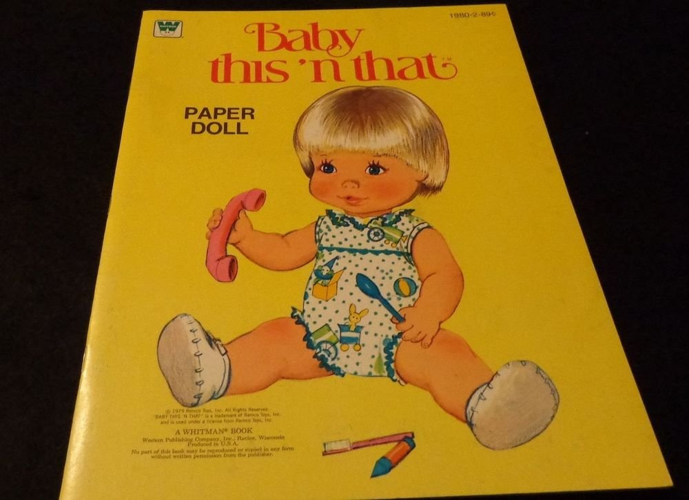 Uncut Whitman Paper Dolls 1979 Baby This 'N That  #1980-2 In Excellent Condition
