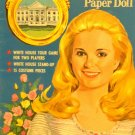 Vintage Uncut Artcraft Paper Dolls Tricia w/ White House Game, White House 1970
