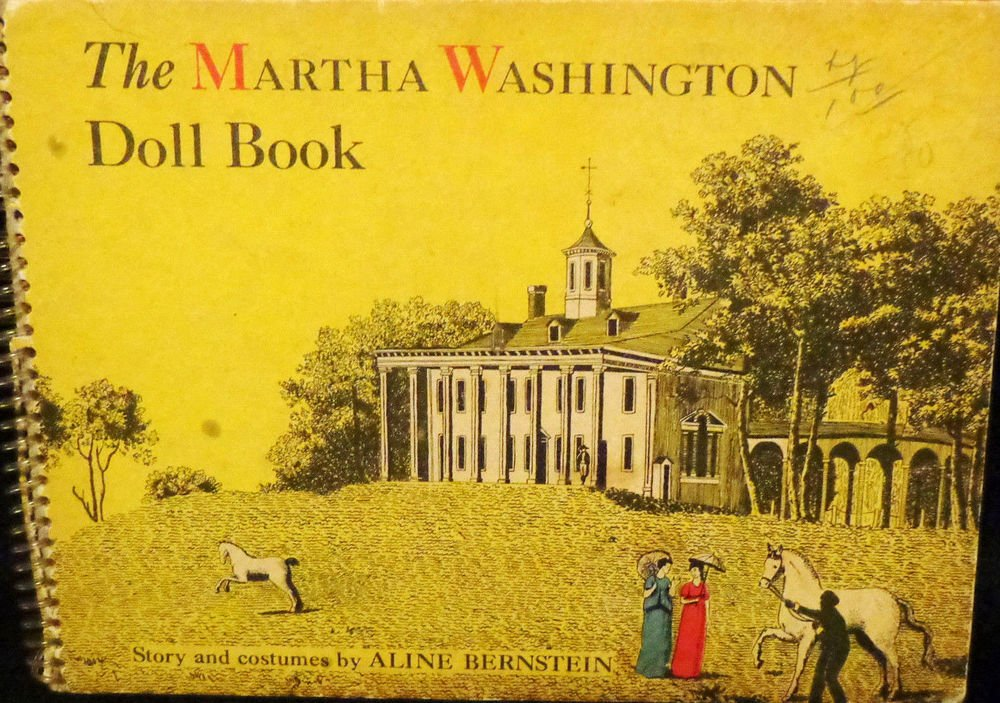 Martha Washington Doll Book Totally Uncut Published 1945 Vintage Paper Dolls