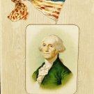 Vintage George Washington Birthday Postcard  Divided Back  Used Postmarked 1908