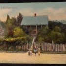 "Black Americana Postcard  ""A Southern Home""   #6261  Unused  Undivided Back"