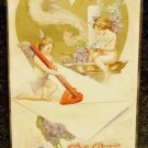 Vintage  Valentine Postcard   Divided Back Postally  Used  Embossed  Winsch 1911