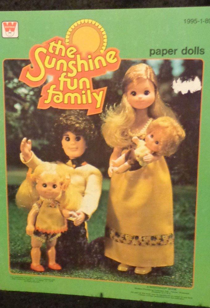 Vintage Paper Dolls Uncut The Sunshine Fun Family 1978 Whitman Company