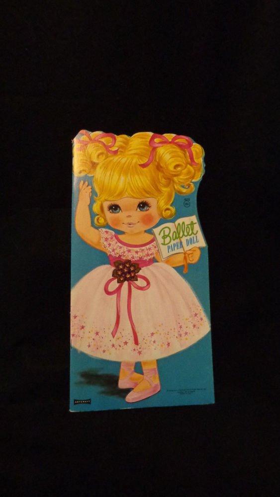 "Vintage Uncut Paper Dolls ""Ballet"" #4233 Saalfield Pub. Co. 1972  Artcraft"