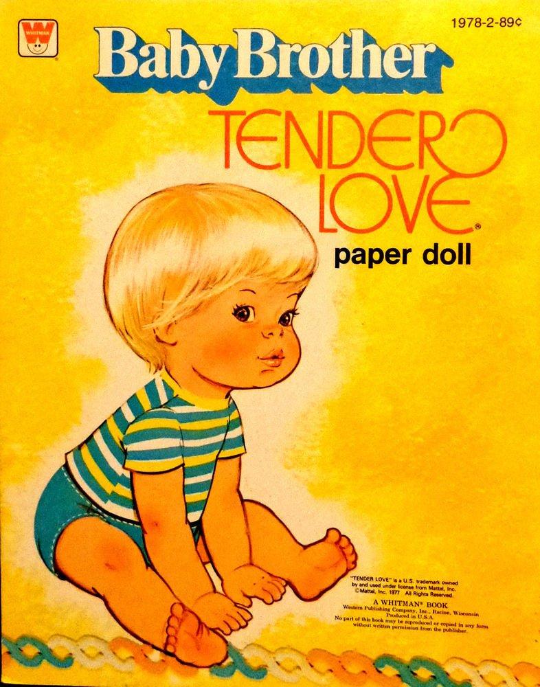 "Vintage Paper Dolls Uncut ""Baby Brother Tender Love"" Whitman Pub. 1977"
