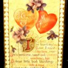 Vintage  Valentine Postcard   Divided Back Unused  Embossed John Winsch 1910