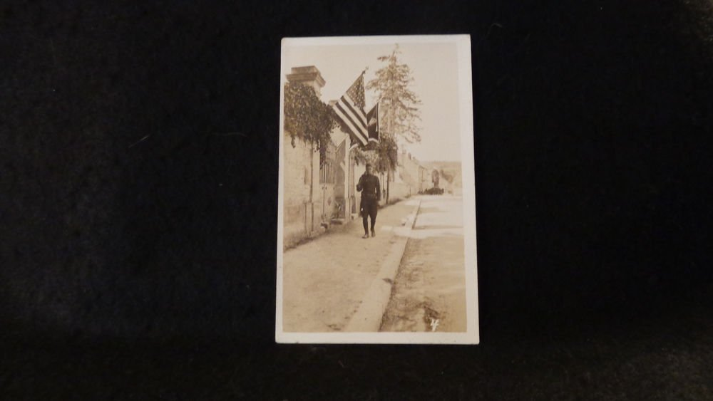 Vintage Sepia Real Photo Postcard  (RPPC) Military US Unposted 1901-07