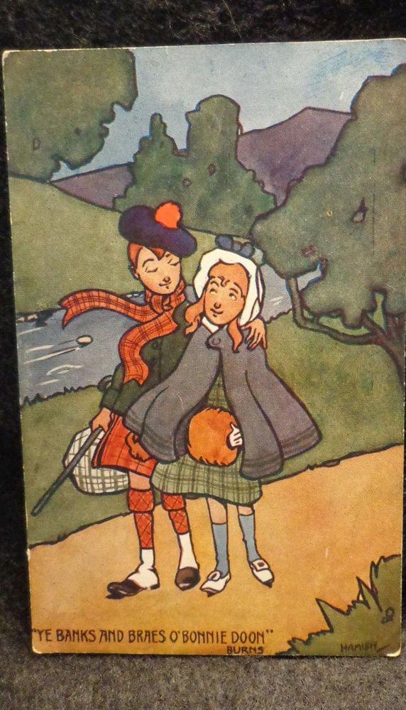 "Raphael Tuck Oilette Printed Lithograph  Postcard ""Highland Ladies England"