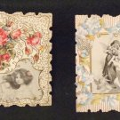 Victorian Greeting Cards or Tea Cards 1906 Two in Lot Embossed, Die Cut,