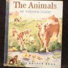Vintage Little Golden Book Blue Spine The Animals of Farmer Jones 1943