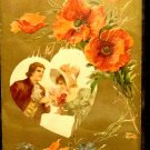 Vintage  Valentine Postcard   Divided Back   Used  Embossed  Beautiful
