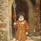 "Vintage Postcard  ""Yeoman Warder, Tower of London"" Used Split Back"