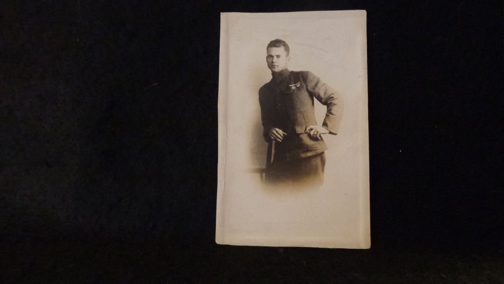 Real Photo Postcard of Soldier in Uniform Mexican Border War   Used  Undivided