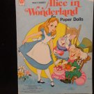 Vintage Uncut Alice in Wonderland Paper Dolls  Walt Disney Whitman 1976 UNCUT