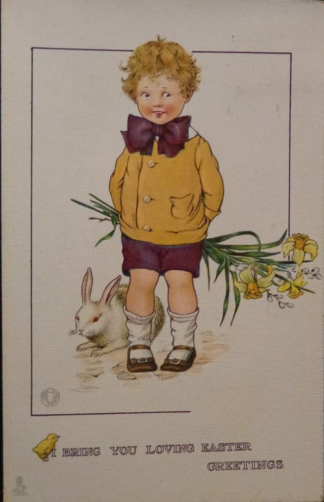 Vintage Raphael Tuck & Sons Easter Postcard Postally Used Excellent Condition